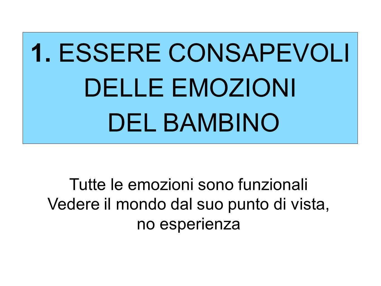1. ESSERE CONSAPEVOLI DELLE EMOZIONI DEL BAMBINO