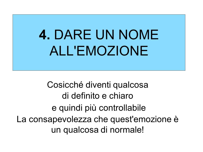 4. DARE UN NOME ALL EMOZIONE