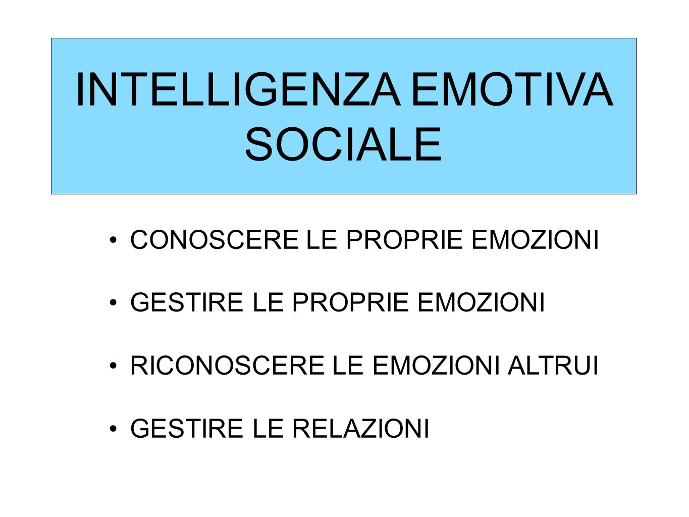 INTELLIGENZA EMOTIVA SOCIALE