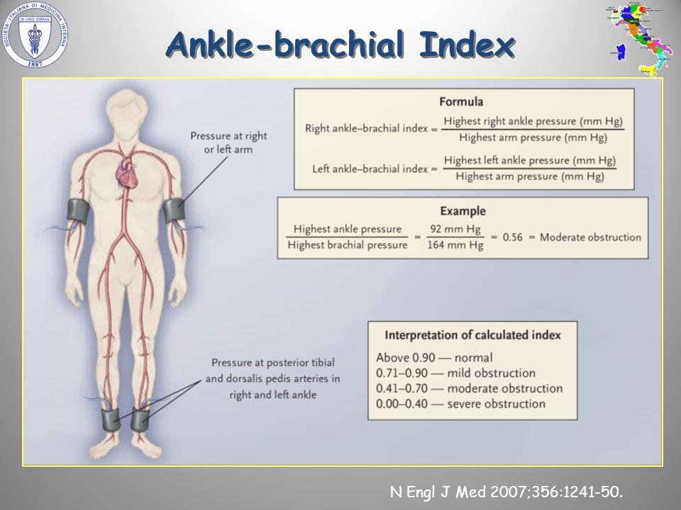 Ankle-brachial Index N Engl J Med 2007;356:1241-50.