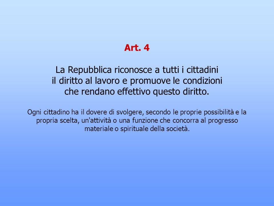 La Repubblica riconosce a tutti i cittadini
