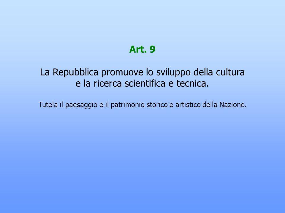 La Repubblica promuove lo sviluppo della cultura