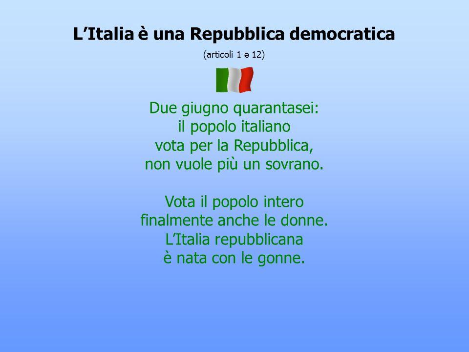 L'Italia è una Repubblica democratica