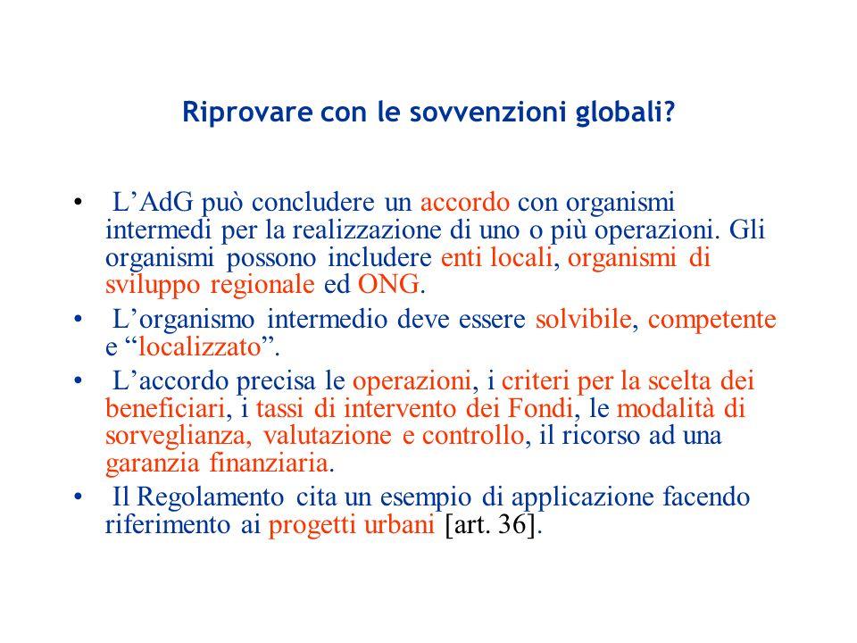 Riprovare con le sovvenzioni globali