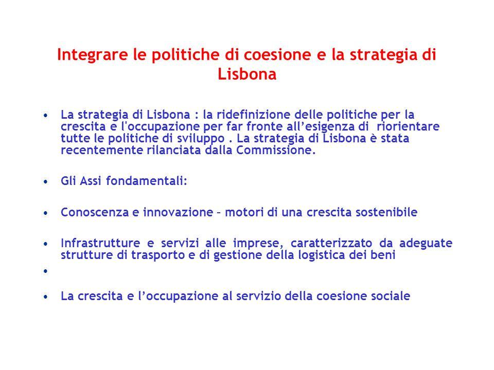 Integrare le politiche di coesione e la strategia di Lisbona