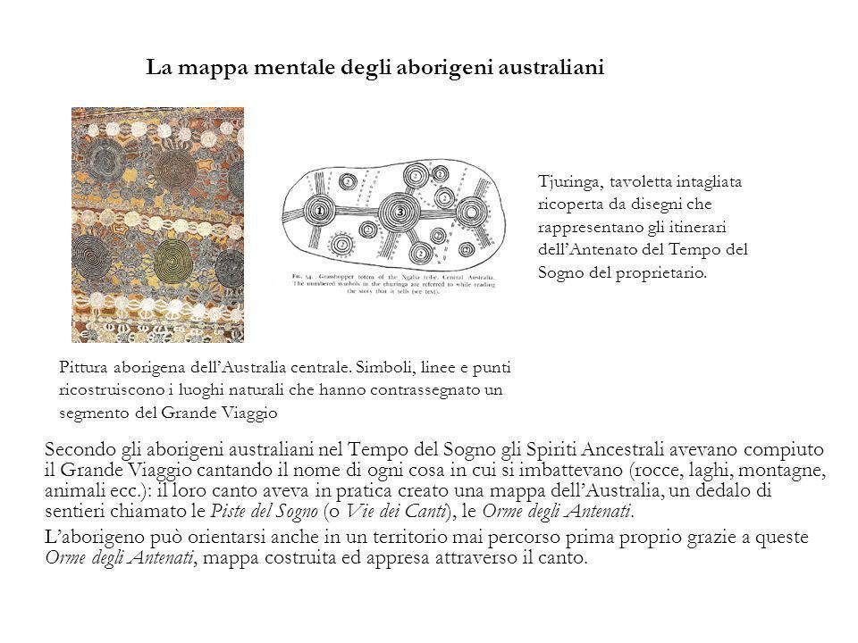 La mappa mentale degli aborigeni australiani