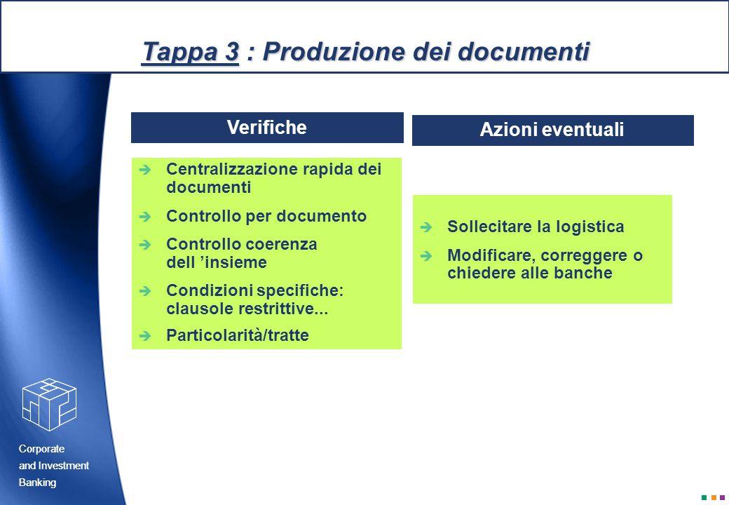 Tappa 3 : Produzione dei documenti