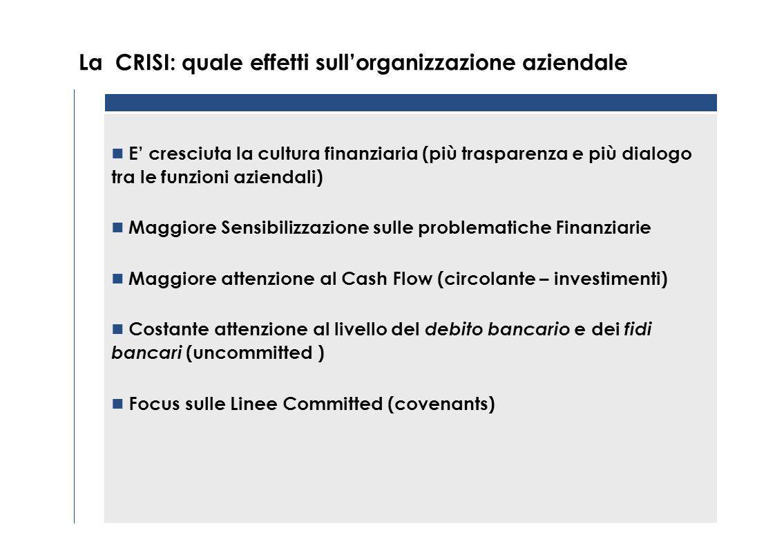 La CRISI: quale effetti sull'organizzazione aziendale