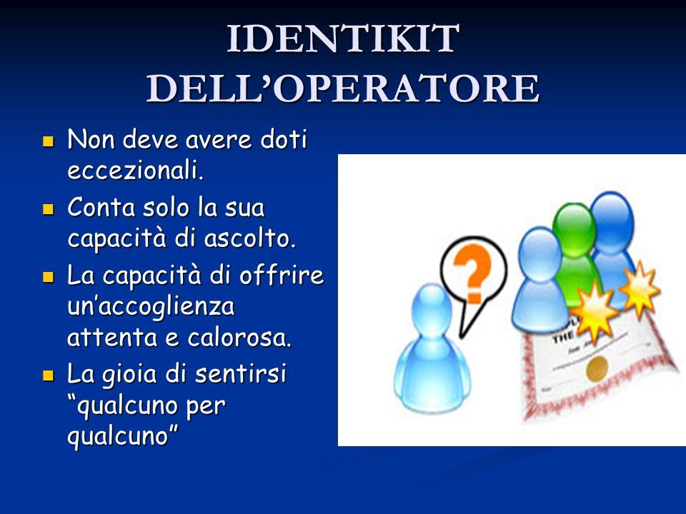 IDENTIKIT DELL'OPERATORE