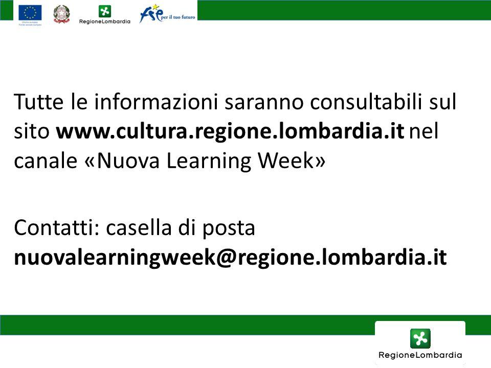 Tutte le informazioni saranno consultabili sul sito www. cultura