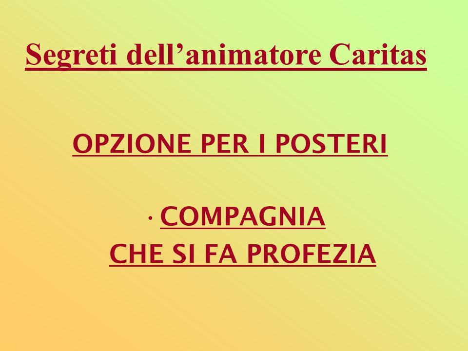 Segreti dell'animatore Caritas