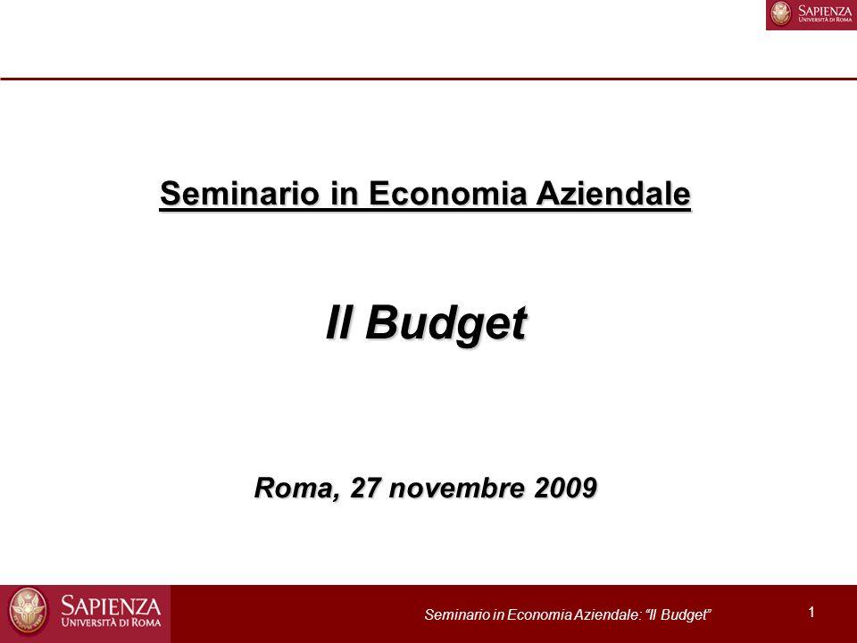 Seminario in Economia Aziendale