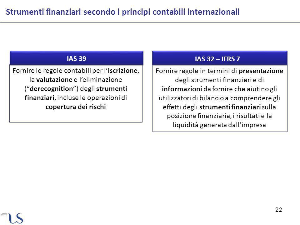 Strumenti finanziari secondo i principi contabili internazionali