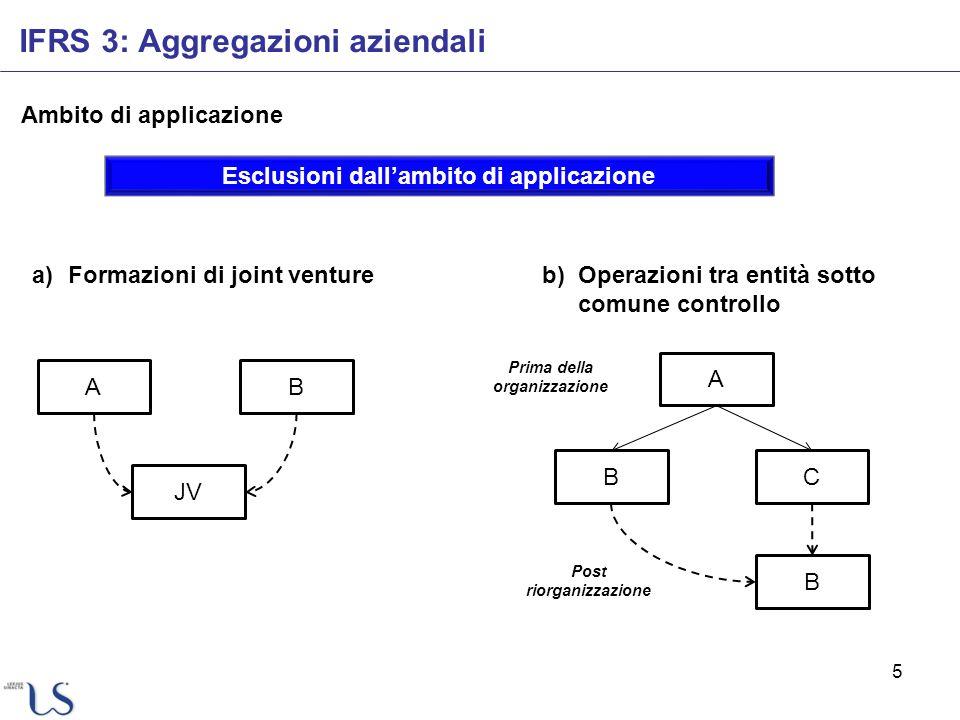 Esclusioni dall'ambito di applicazione Prima della organizzazione
