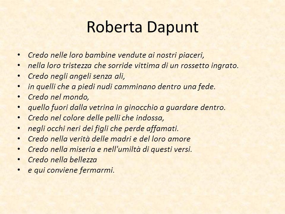 Roberta Dapunt Credo nelle loro bambine vendute ai nostri piaceri,