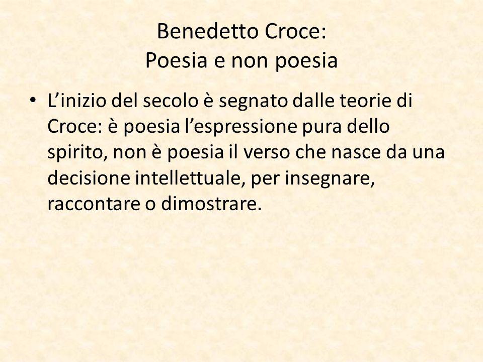 Benedetto Croce: Poesia e non poesia