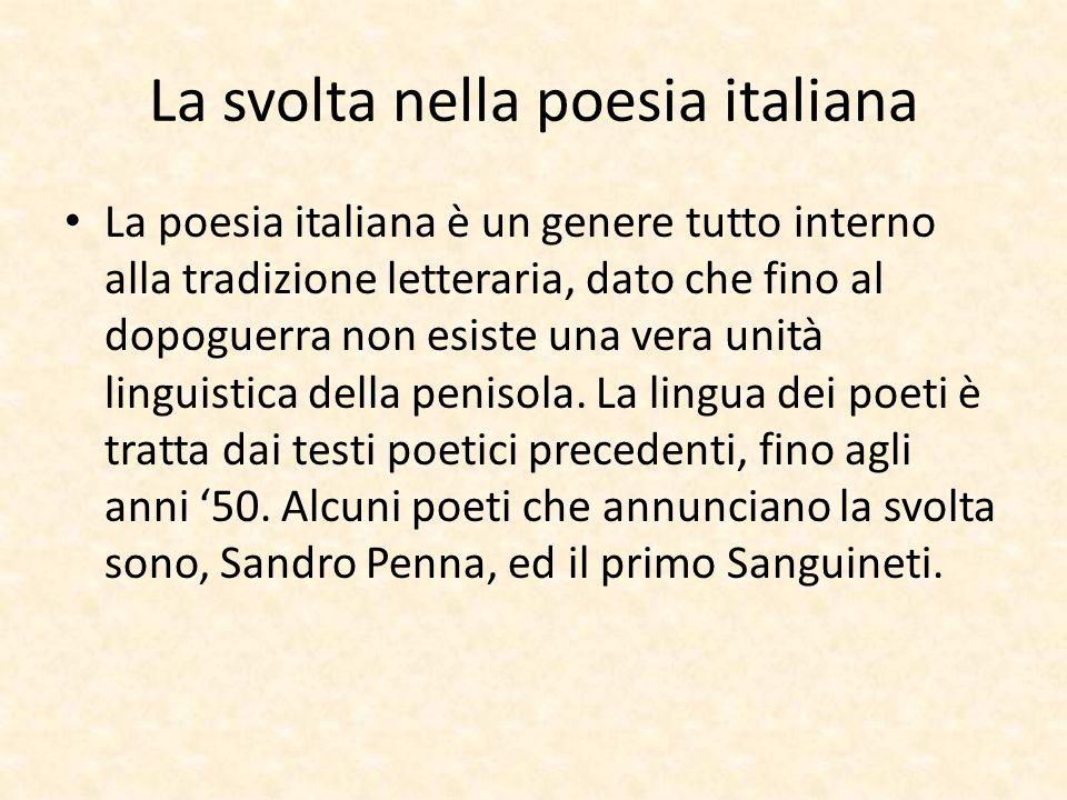 La svolta nella poesia italiana