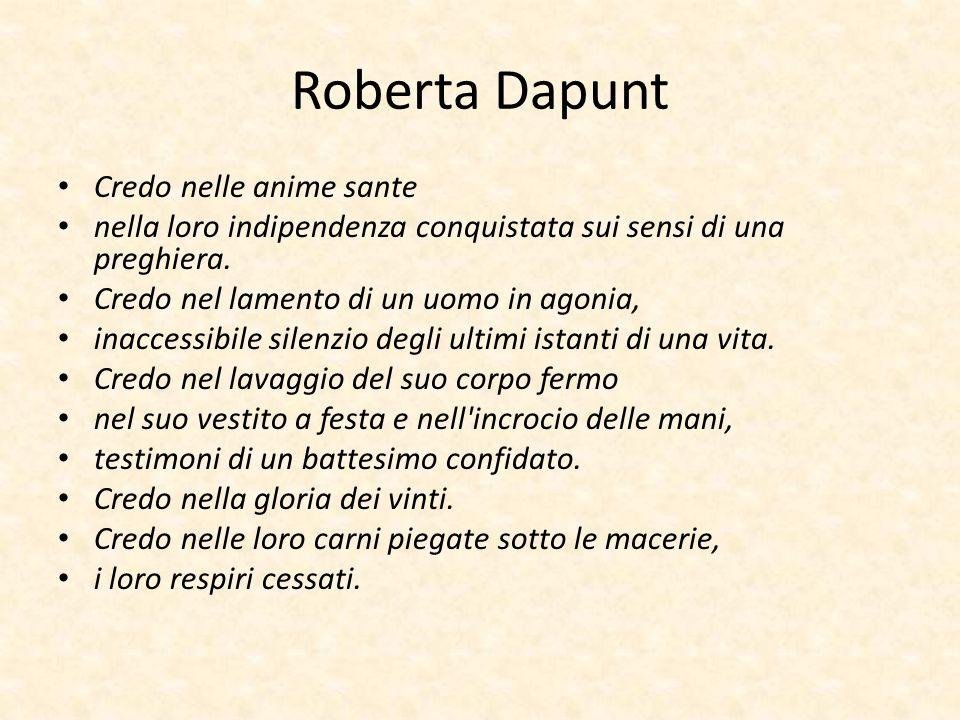 Roberta Dapunt Credo nelle anime sante