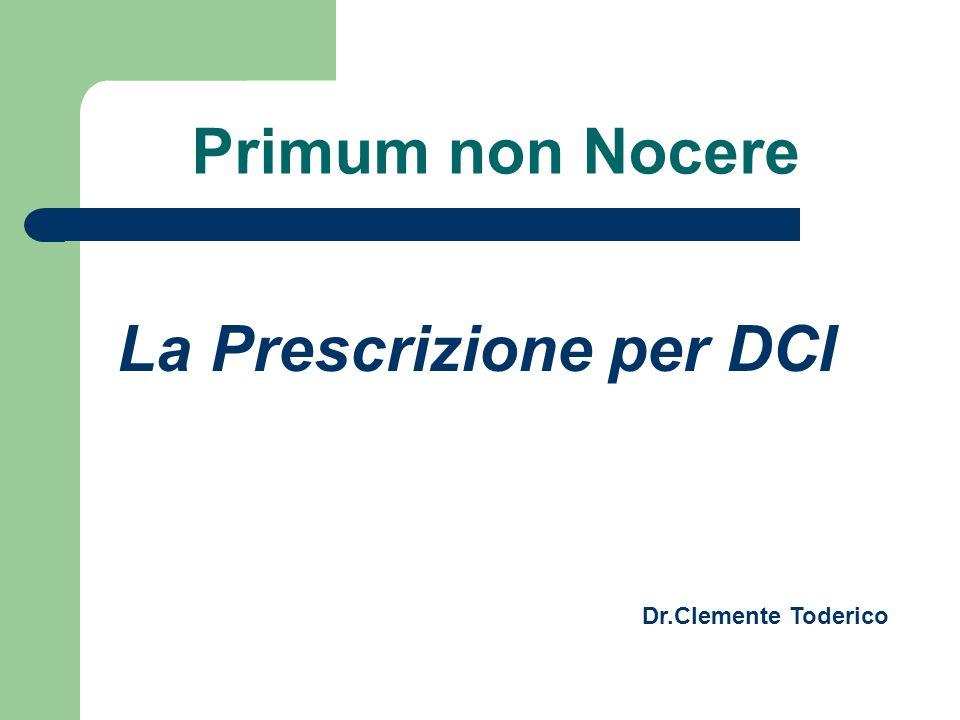 La Prescrizione per DCI
