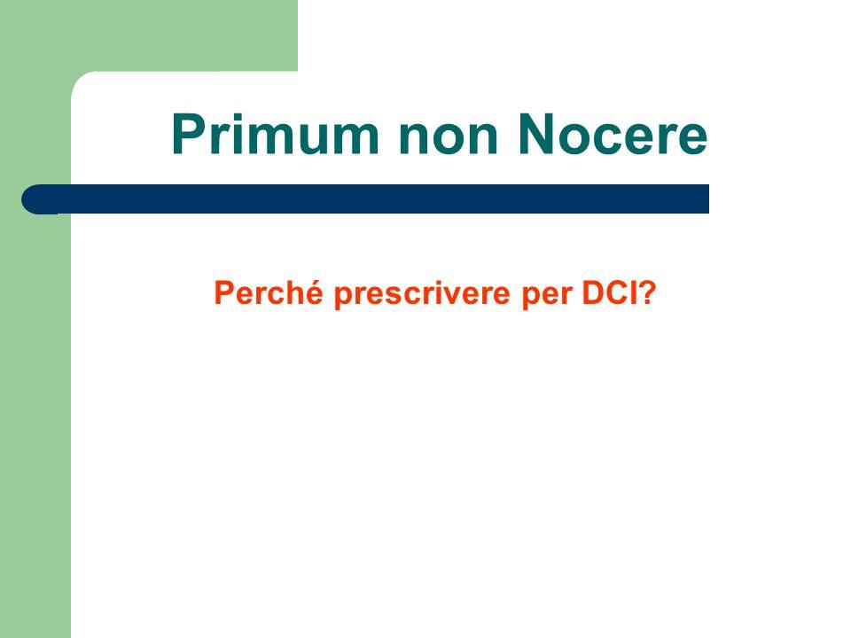 Perché prescrivere per DCI