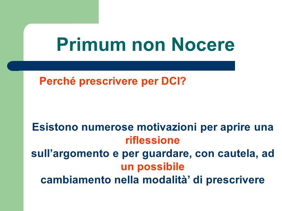 Primum non Nocere Perché prescrivere per DCI