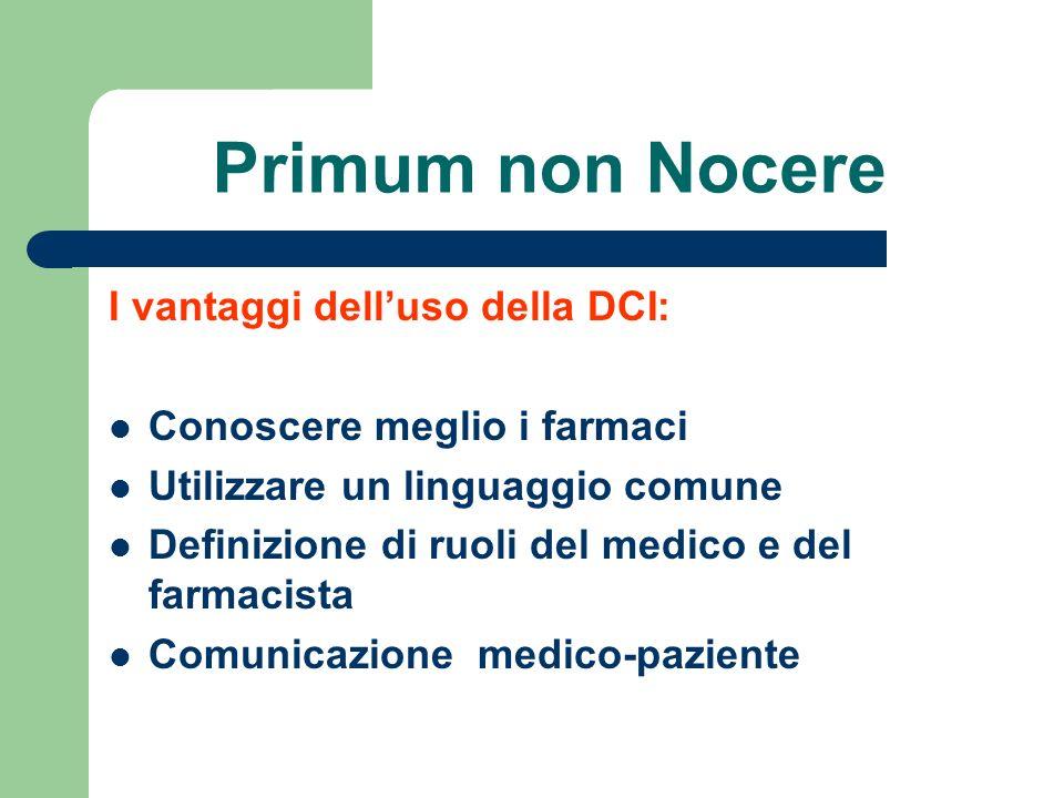 Primum non Nocere I vantaggi dell'uso della DCI: