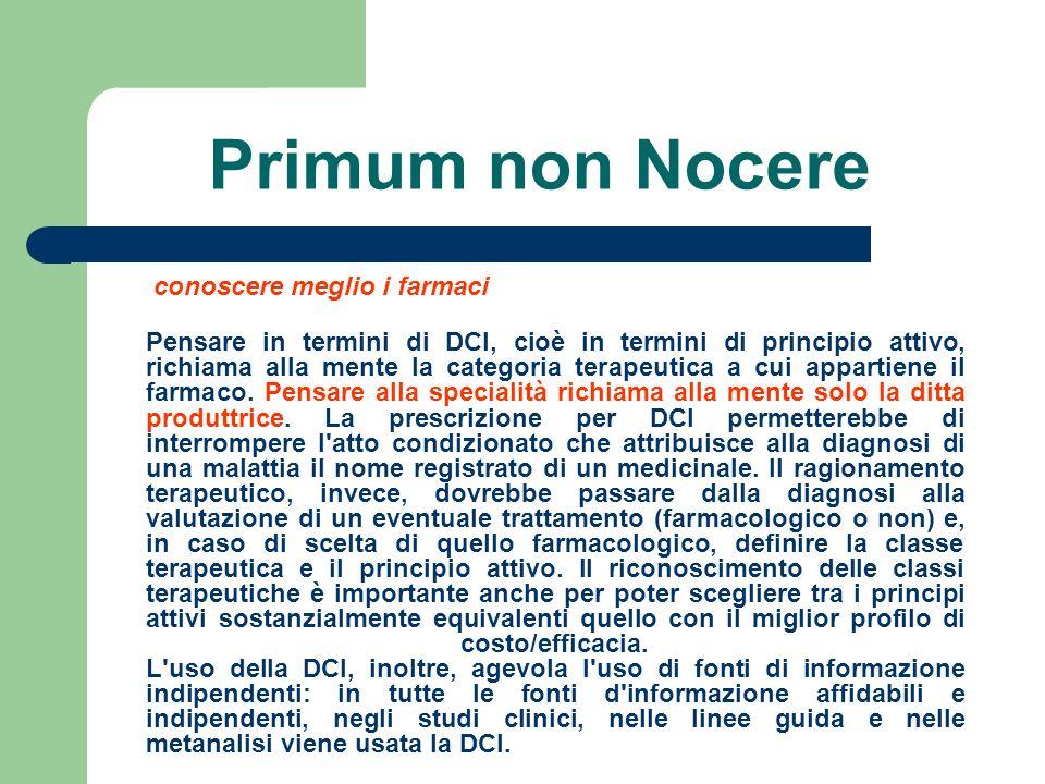 Primum non Nocere conoscere meglio i farmaci