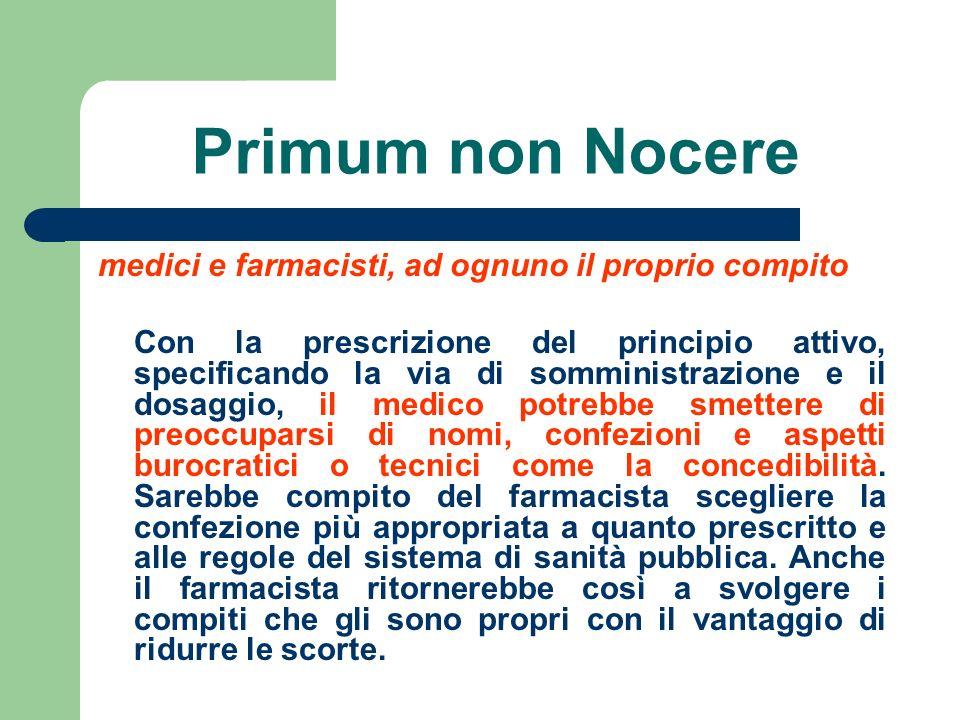 Primum non Nocere medici e farmacisti, ad ognuno il proprio compito