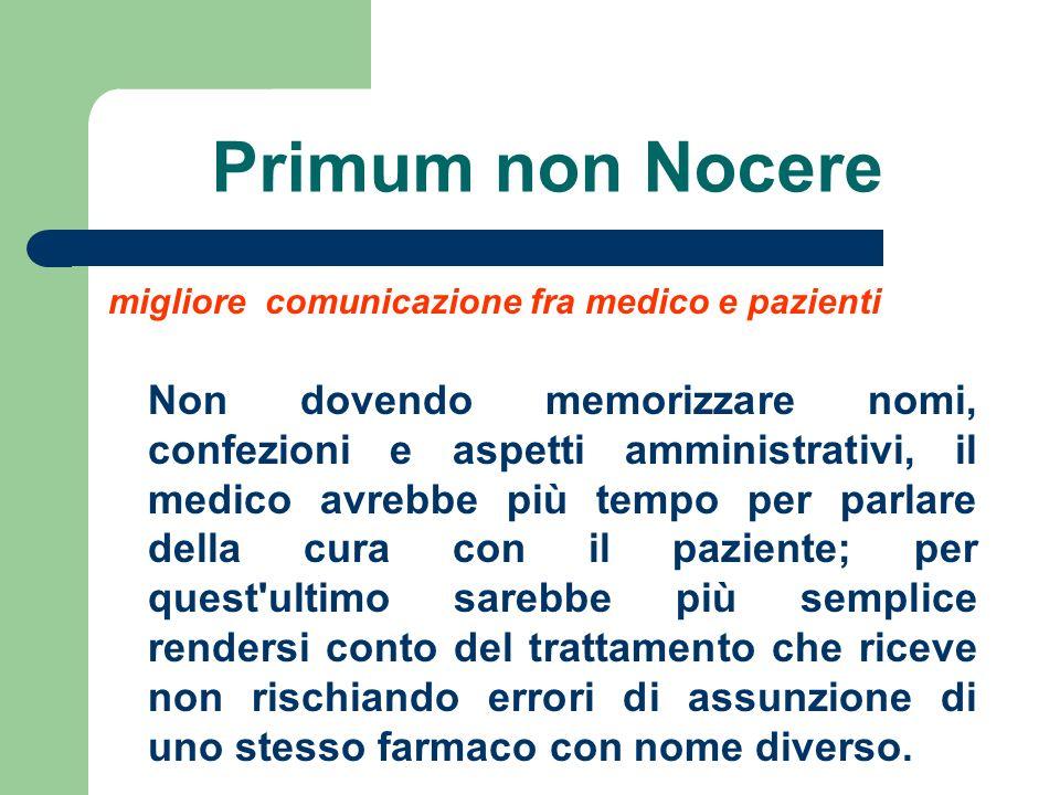 Primum non Nocere migliore comunicazione fra medico e pazienti.