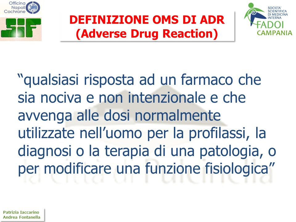 (Adverse Drug Reaction)