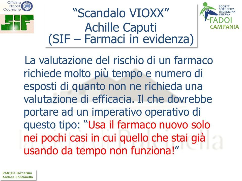 (SIF – Farmaci in evidenza)