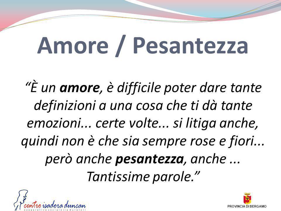 Amore / Pesantezza
