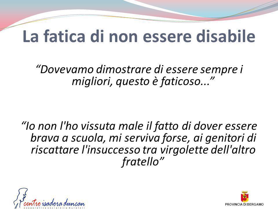 La fatica di non essere disabile