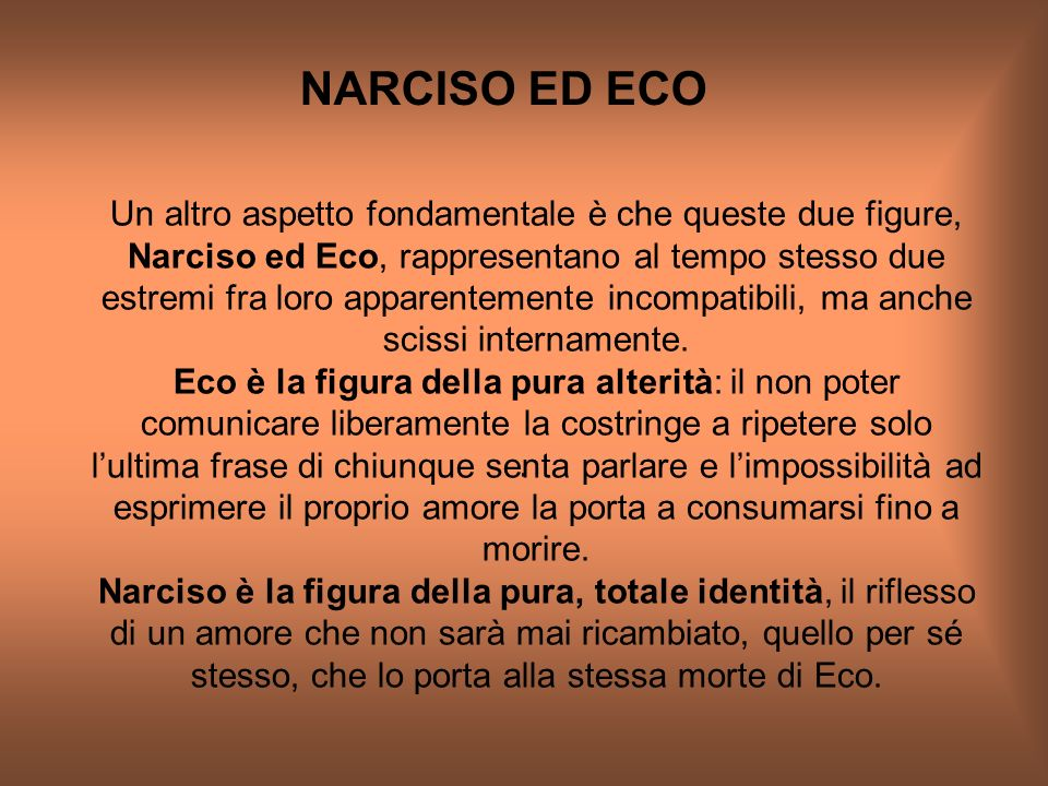 NARCISO ED ECO
