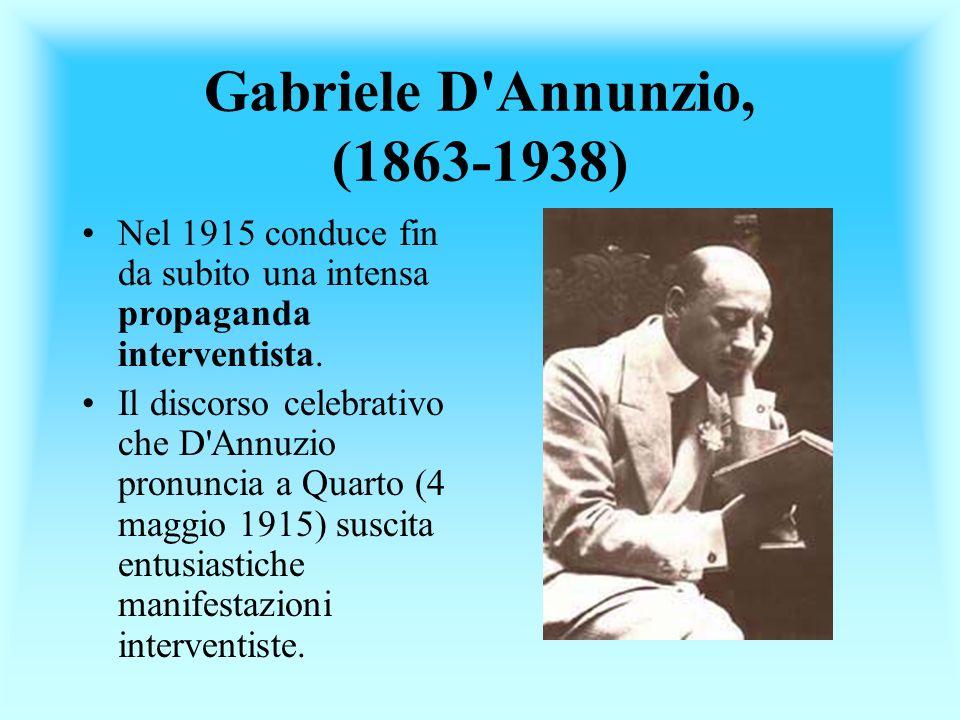 Gabriele D Annunzio, (1863-1938)