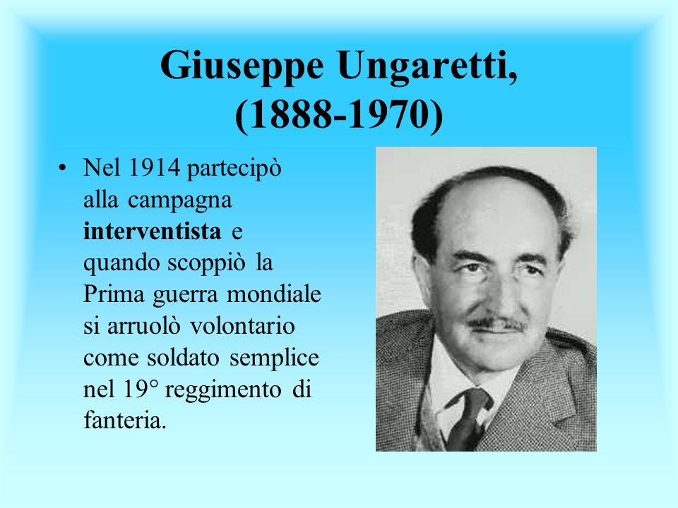 Giuseppe Ungaretti, (1888-1970)
