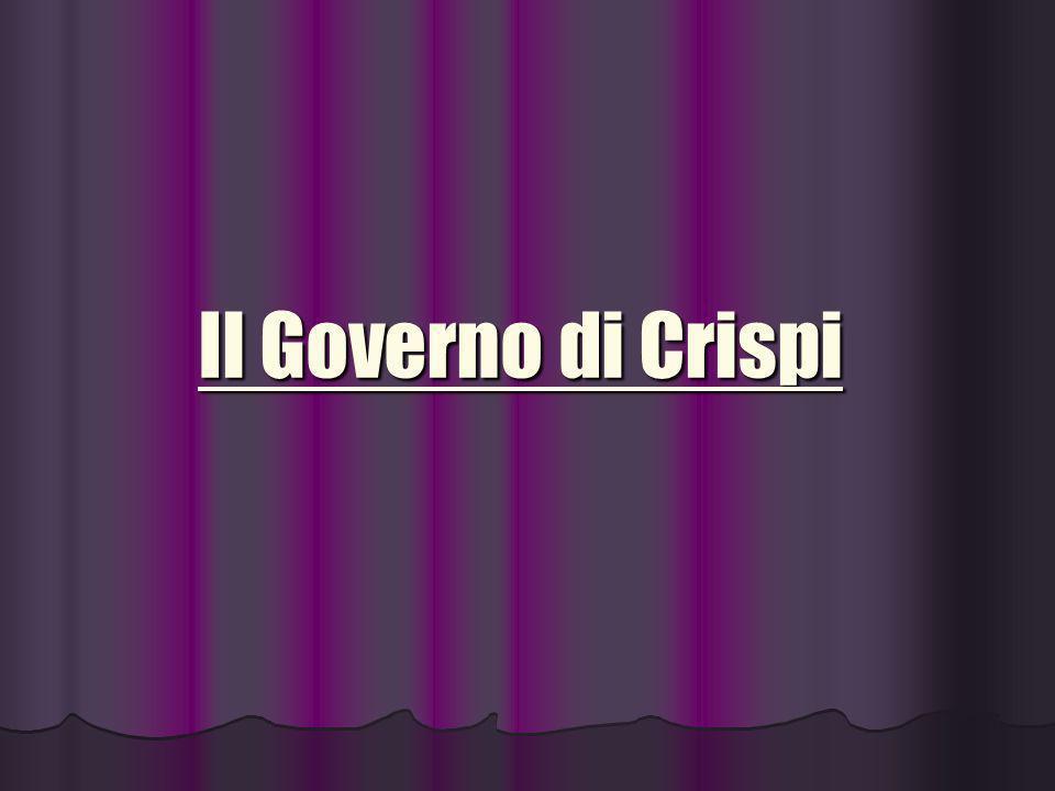 Il Governo di Crispi