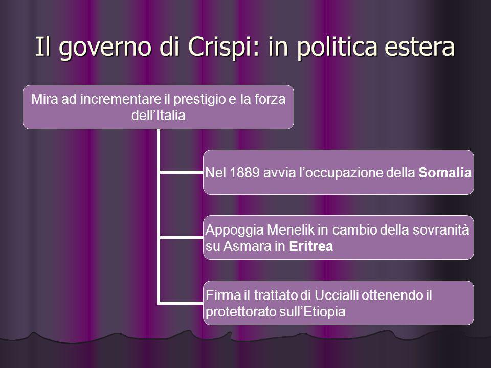 Il governo di Crispi: in politica estera