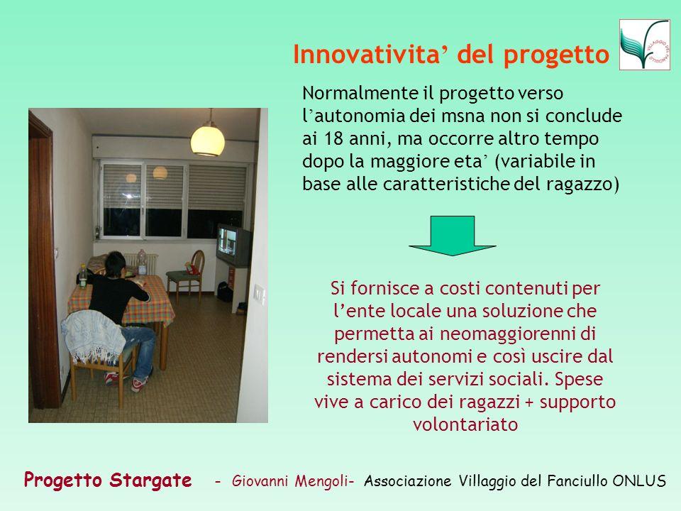 Innovativita' del progetto