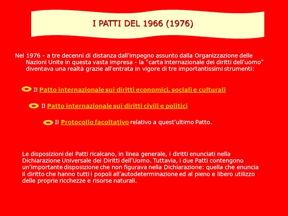 I PATTI DEL 1966 (1976)