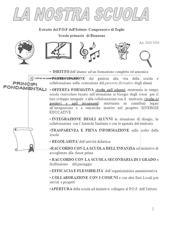 LA NOSTRA SCUOLA PRINCIPI FONDAMENTALI
