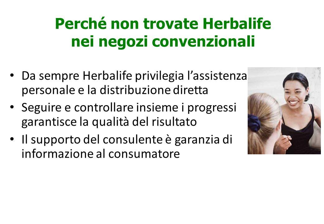 Perché non trovate Herbalife nei negozi convenzionali