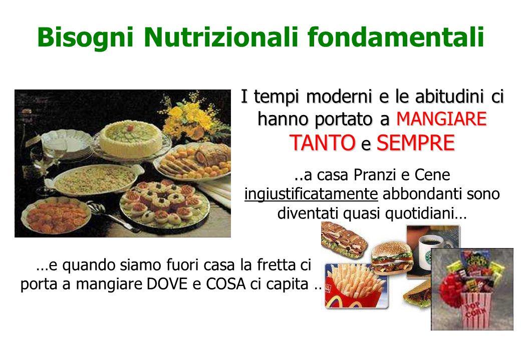 Bisogni Nutrizionali fondamentali