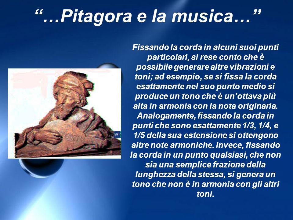 …Pitagora e la musica…
