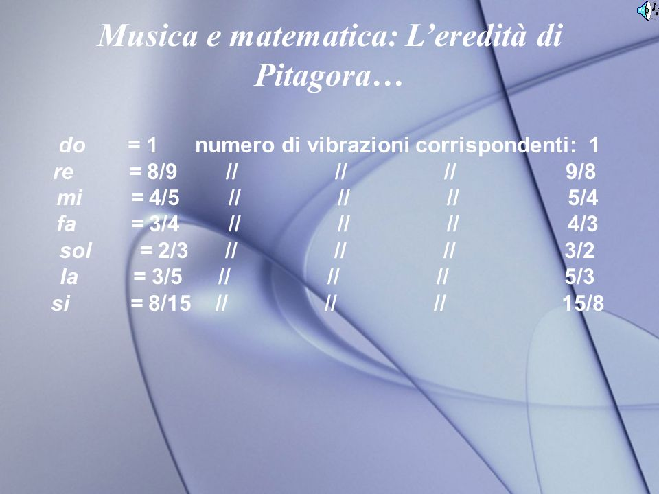 Musica e matematica: L'eredità di Pitagora…