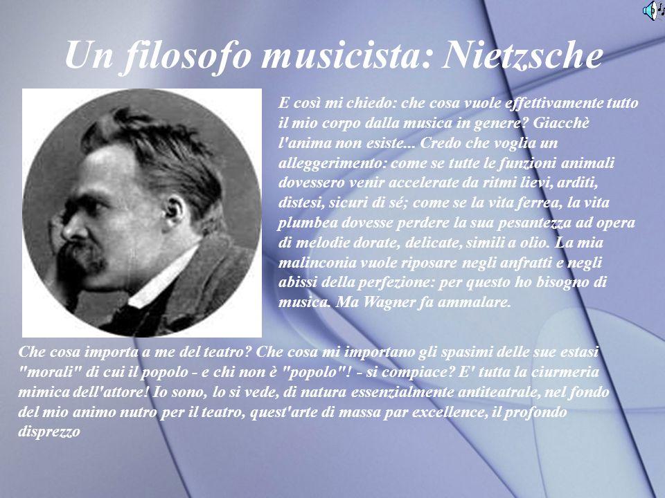 Un filosofo musicista: Nietzsche