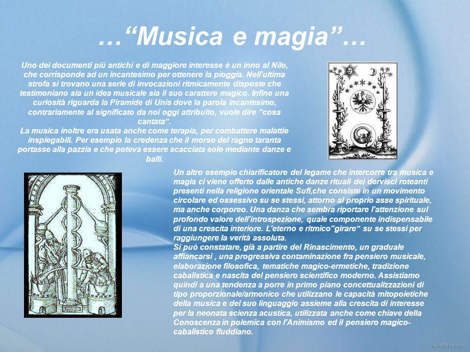 … Musica e magia …