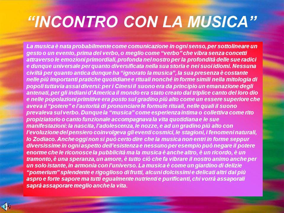 INCONTRO CON LA MUSICA