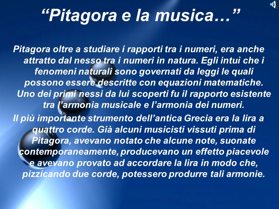 Pitagora e la musica…