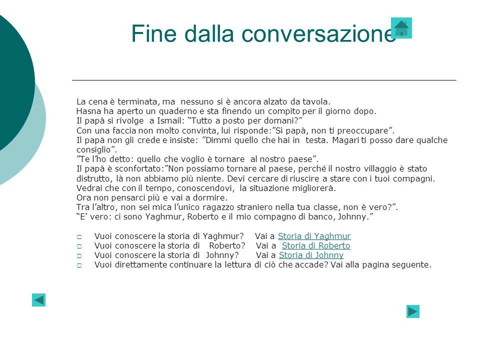 Fine dalla conversazione
